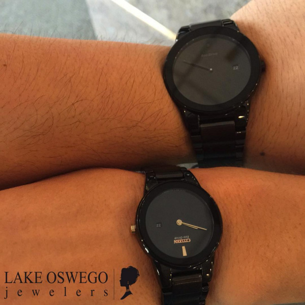 Matching his & hers Citizen watches.  - 3